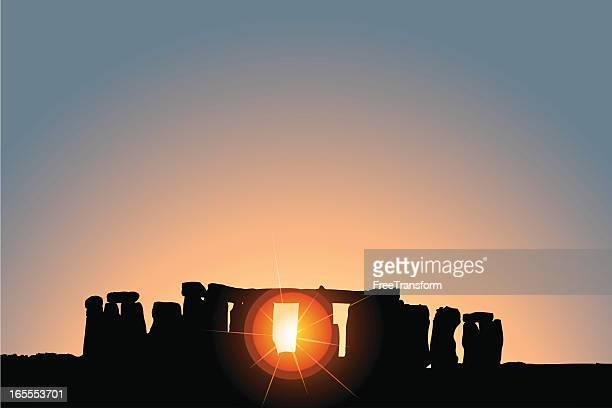 ilustrações de stock, clip art, desenhos animados e ícones de solstício de stonehenge - megalith