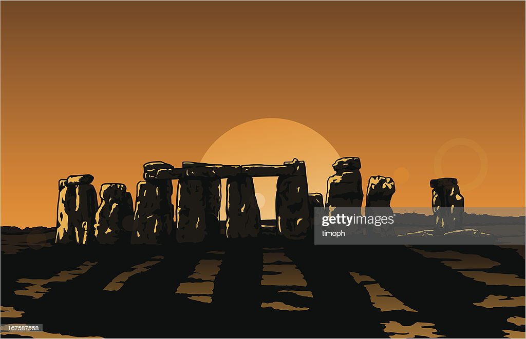 Stonehenge Sun : stock illustration