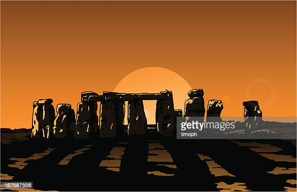 ilustrações de stock, clip art, desenhos animados e ícones de stonehenge sol - megalith