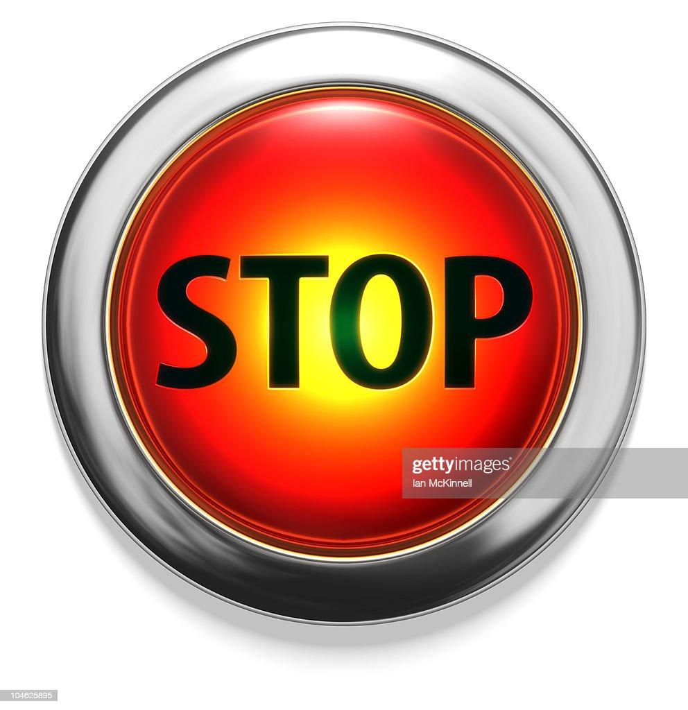 Stop Button : stock illustration