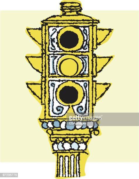 stop light - traffic stock illustrations