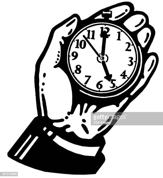 stopwatch - minute hand stock illustrations