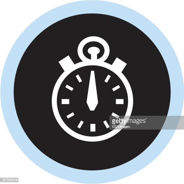 ilustrações, clipart, desenhos animados e ícones de stopwatch - cronômetro instrumento para medir o tempo