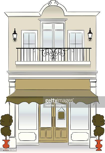 storefront - awning stock illustrations, clip art, cartoons, & icons