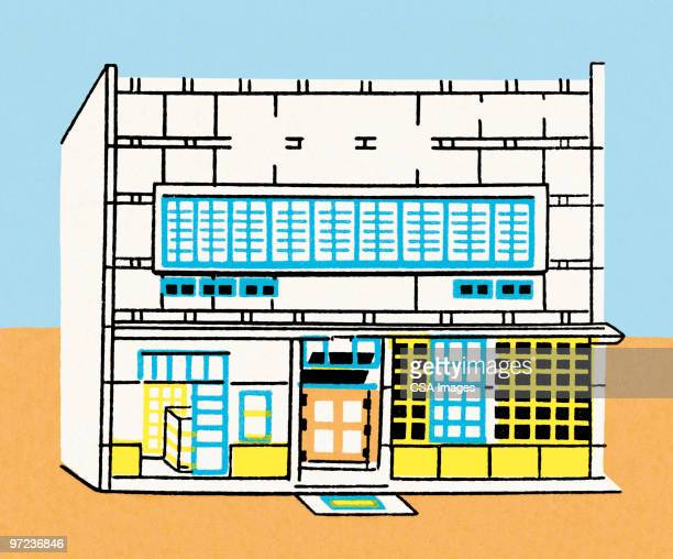 storefront - facade stock illustrations