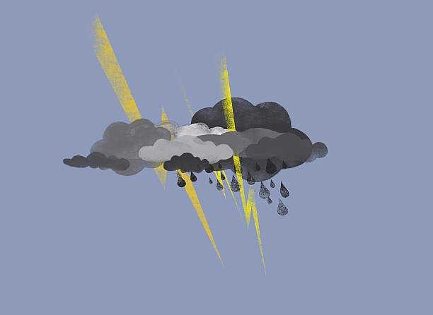 Storm Clouds, Lightning And Rain Wall Art