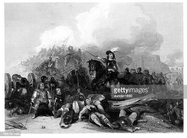 storming of bristol - cavalier cavalry stock illustrations, clip art, cartoons, & icons