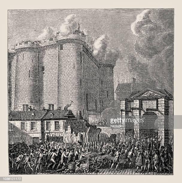 ilustrações, clipart, desenhos animados e ícones de storming do bastille paris frança 1789 - arte, cultura e espetáculo