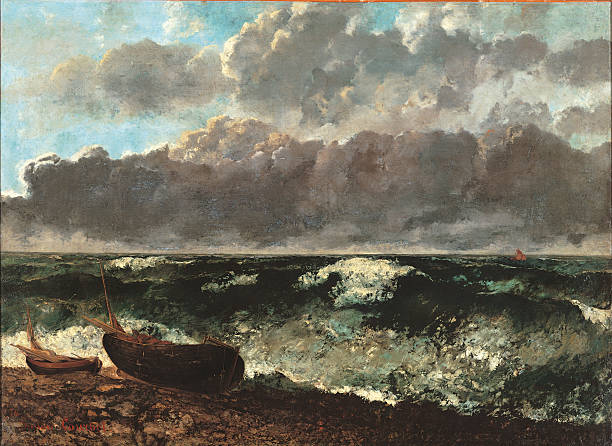 Stormy Sea, also known as The Wave, by Gustave Courbet, 1870, 19th Century, oil on canvas, cm 117 x 160,5.