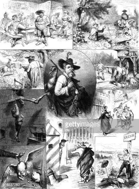 a story of a man who escaped from prison and happily escaped across the border. - 1877 stock illustrations, clip art, cartoons, & icons