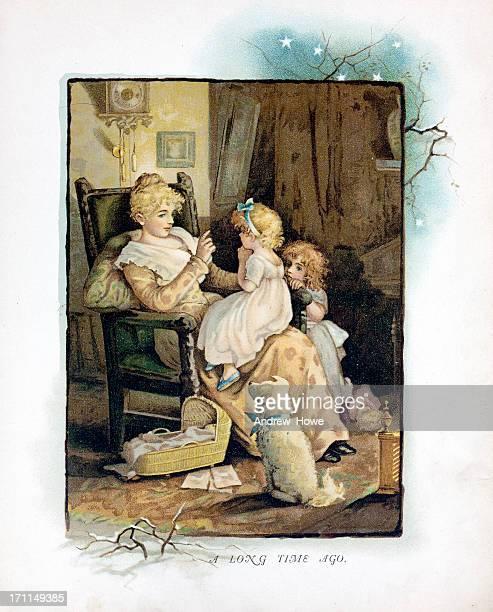 storytime illustration - toddler stock illustrations