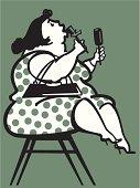 Stout Lady - 1960s Stylization