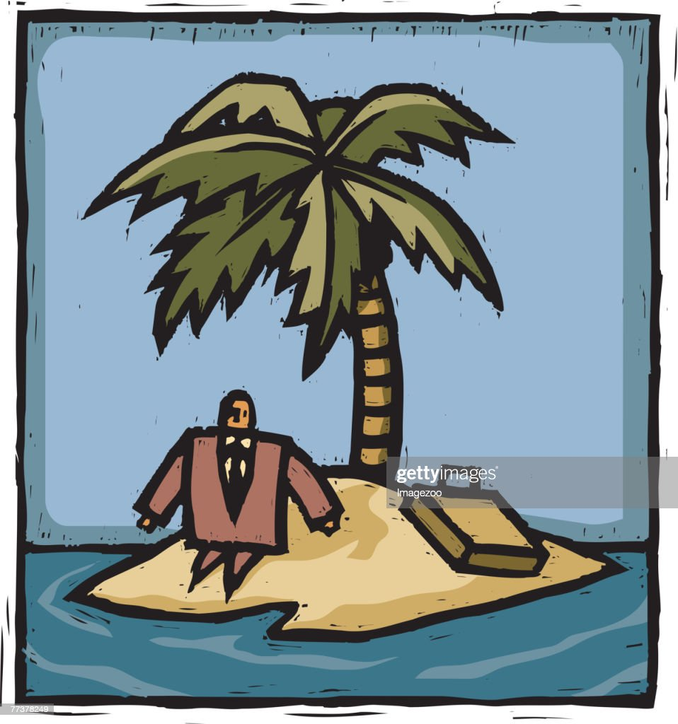stranded : Stock Illustration