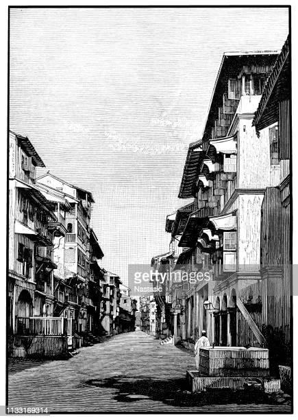 street in bombay - 1887 stock illustrations, clip art, cartoons, & icons