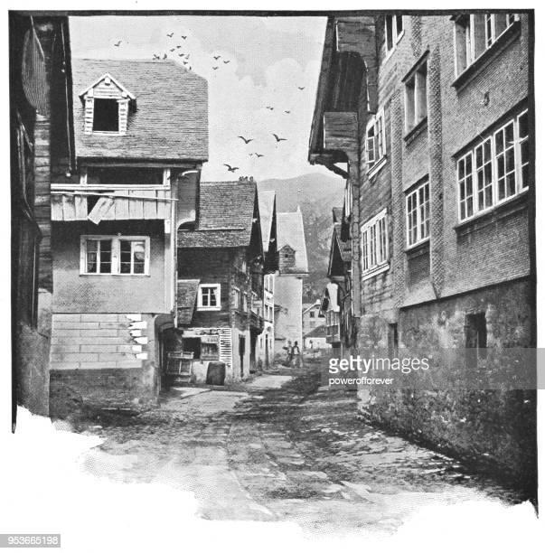 Street in Oberammergau, Germany - 19th Century