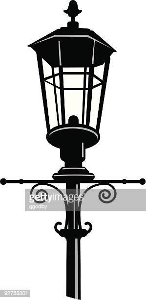 Lámpara de calle silueta