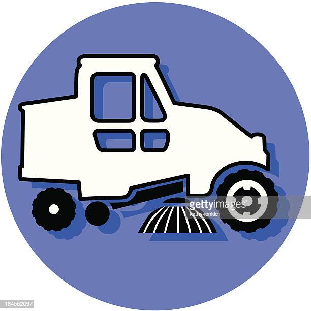 street sweeper icon - street sweeper stock illustrations