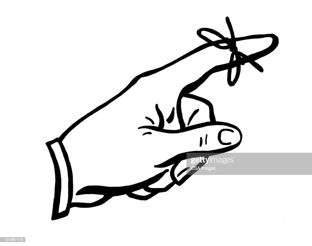 string tied to finger to remember high res vector graphic getty images string tied to finger to remember high res vector graphic getty images