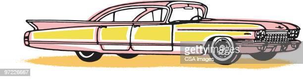 Striped Pink Cadillac