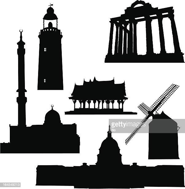 structures - architectural dome stock illustrations, clip art, cartoons, & icons
