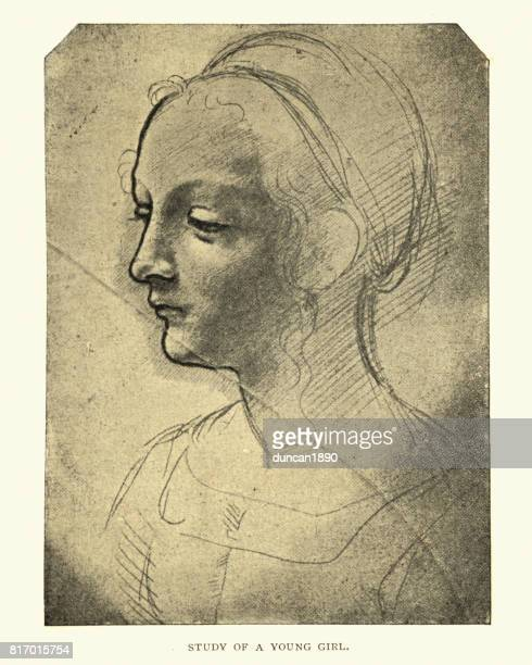 Study of a young girl by Leonardo Da Vinci