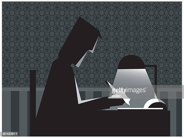 studying at night vector - classical theater stock illustrations, clip art, cartoons, & icons