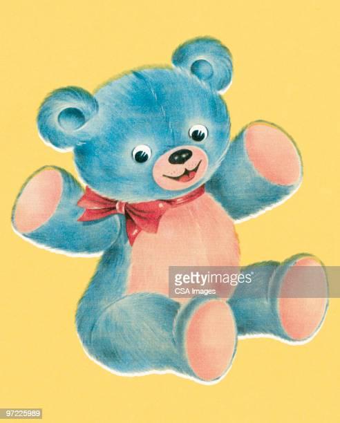 ilustraciones, imágenes clip art, dibujos animados e iconos de stock de stuffed bear - osito de peluche