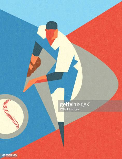 Stylized Baseball Pitcher