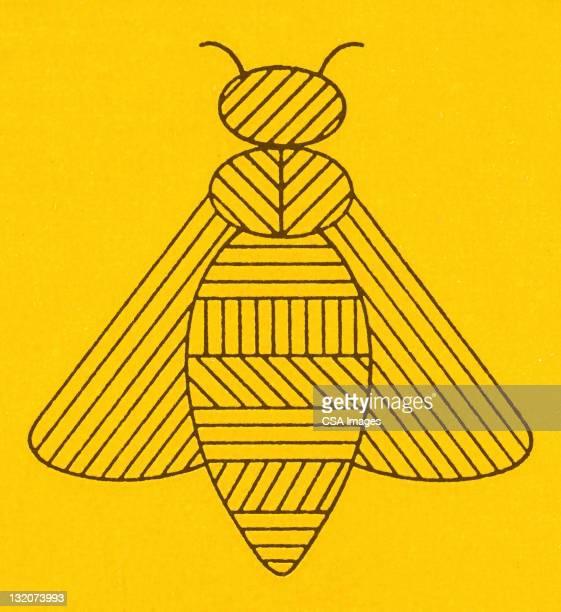 illustrations, cliparts, dessins animés et icônes de stylized bee - abeille