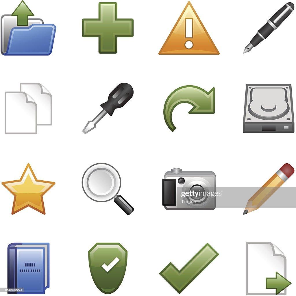 Stylized icons set 03