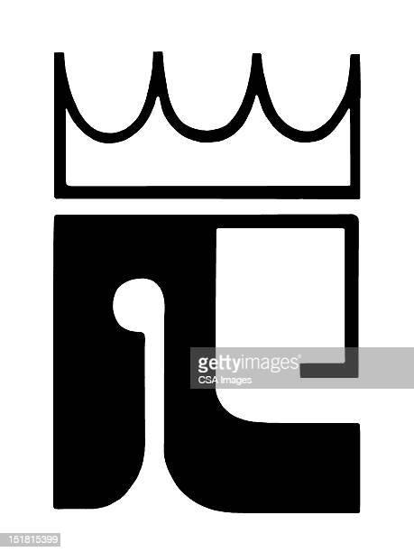 stylized king - ruler stock illustrations