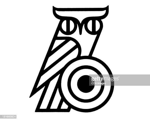 stylized owl - sports target stock illustrations