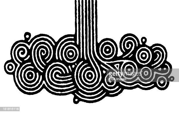 stylized swirling water - image stock illustrations