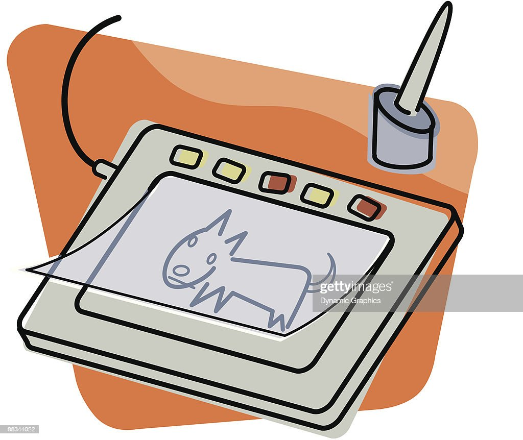 Stylus and tablet Color Layered : stock illustration
