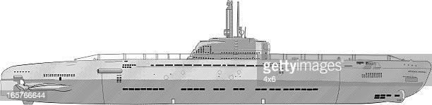 submarine illustration - submarine stock illustrations