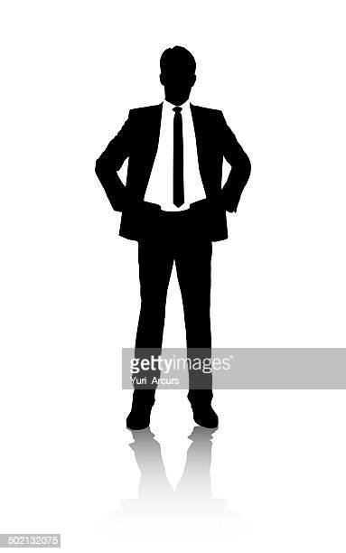 successful silhouette - hand on hip stock illustrations, clip art, cartoons, & icons