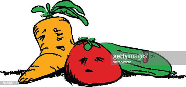 suffering vegetables - rotting stock illustrations, clip art, cartoons, & icons