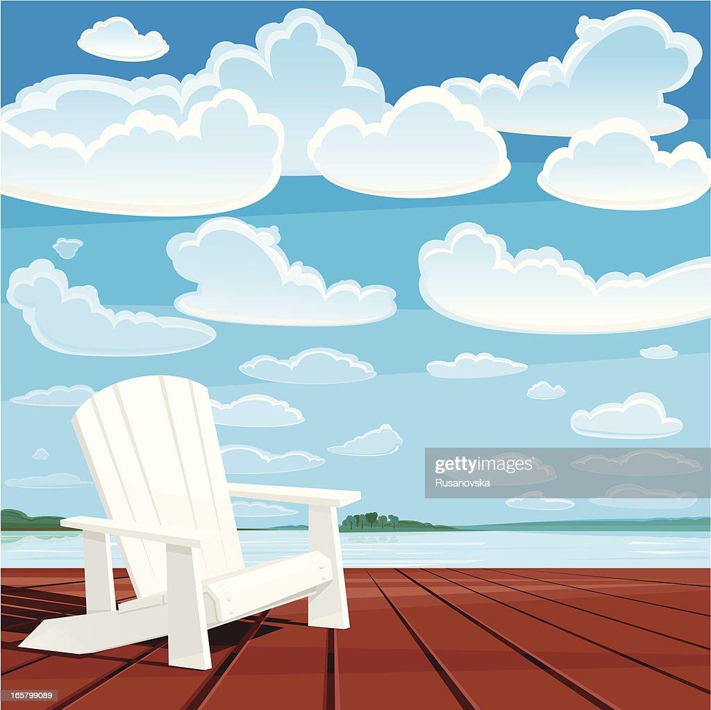 Summer Background (Muskoka Chair) : stock illustration