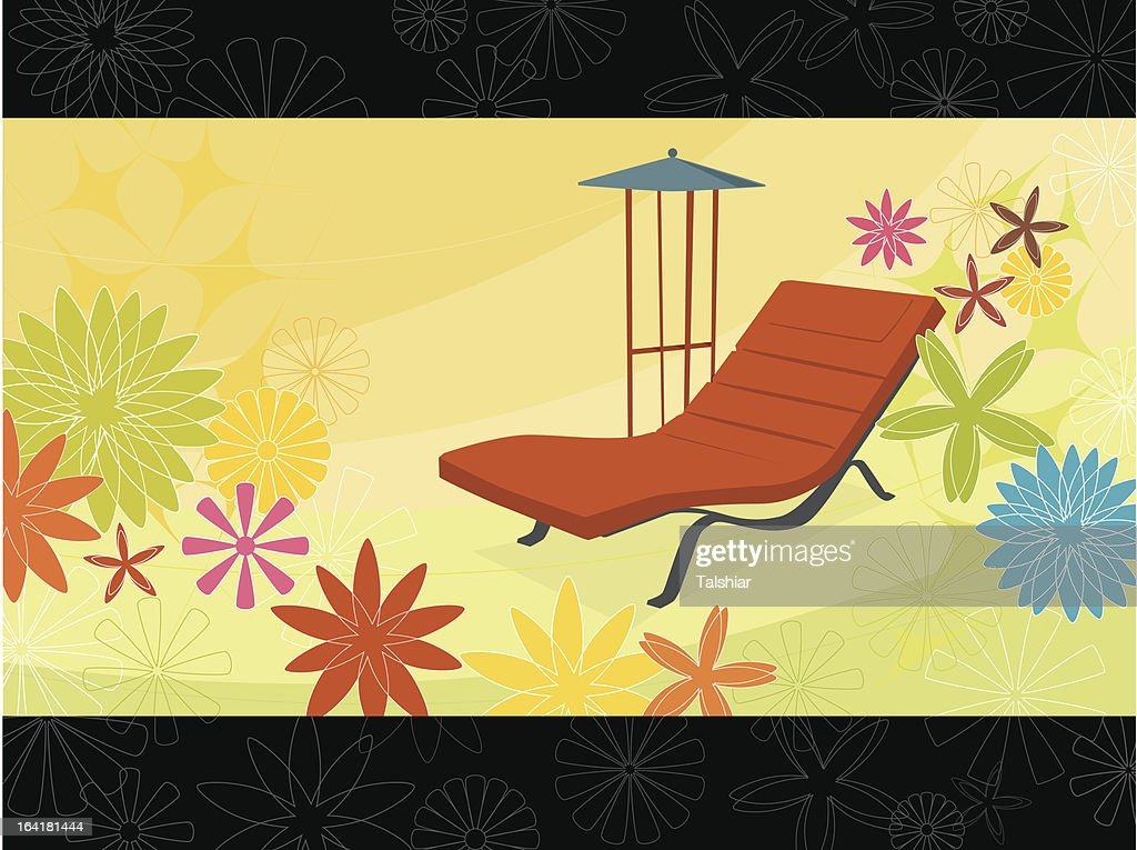 Summer Flower Chaise Lounge (Vector)