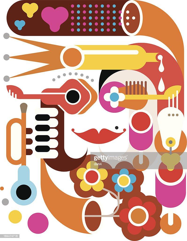 Summer Music - vector illustration
