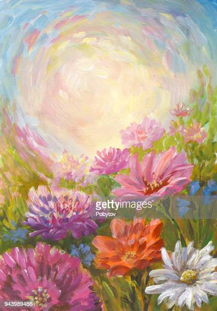 Summer sun, oil painting