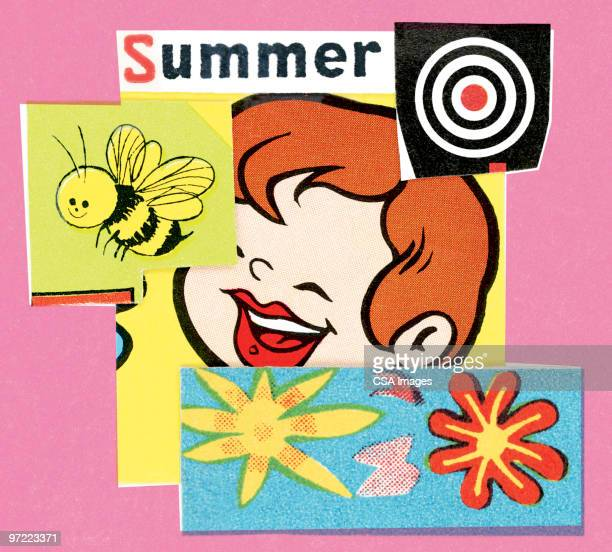 summertime pattern - sports target stock illustrations