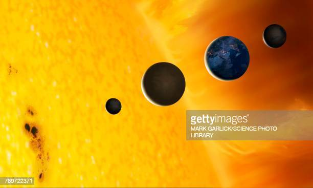Sun and Terrestrial Planets, illustration