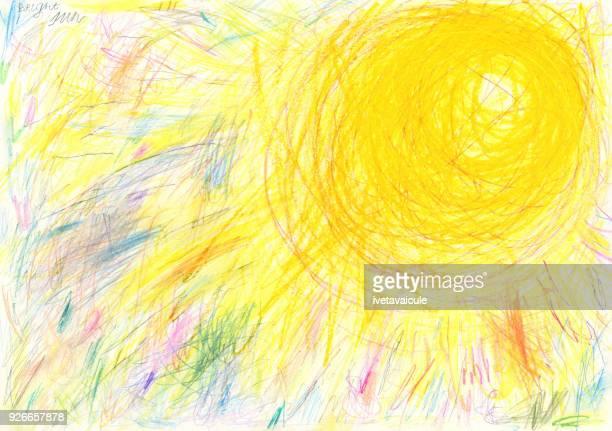 太陽の背景パターン