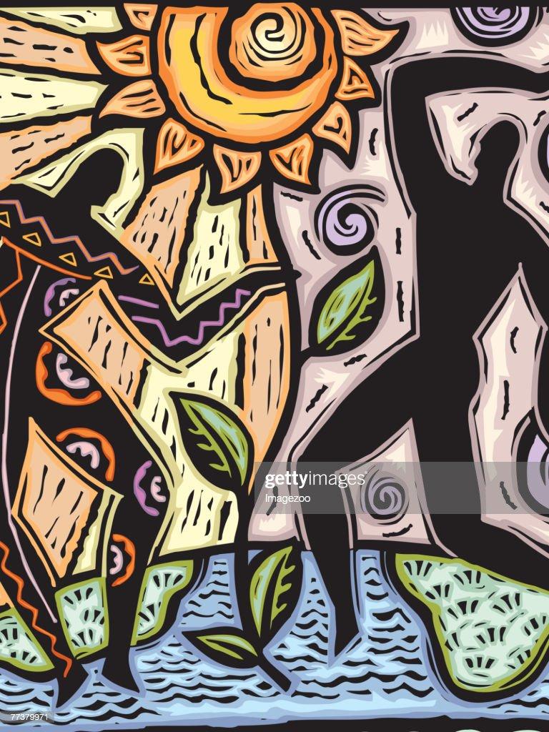 Sun dancers : Illustration