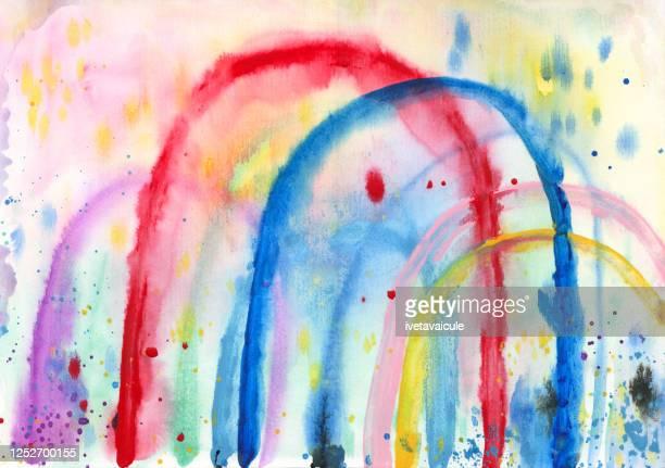 太陽、雨、虹 - lgbtプライド月間点のイラスト素材/クリップアート素材/マンガ素材/アイコン素材