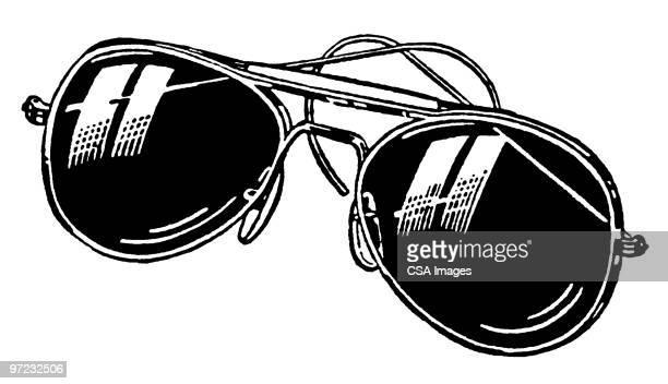 sunglasses - パイロットサングラス点のイラスト素材/クリップアート素材/マンガ素材/アイコン素材