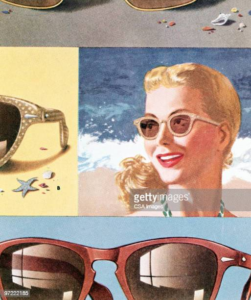 sunglasses pattern - old fashioned stock illustrations