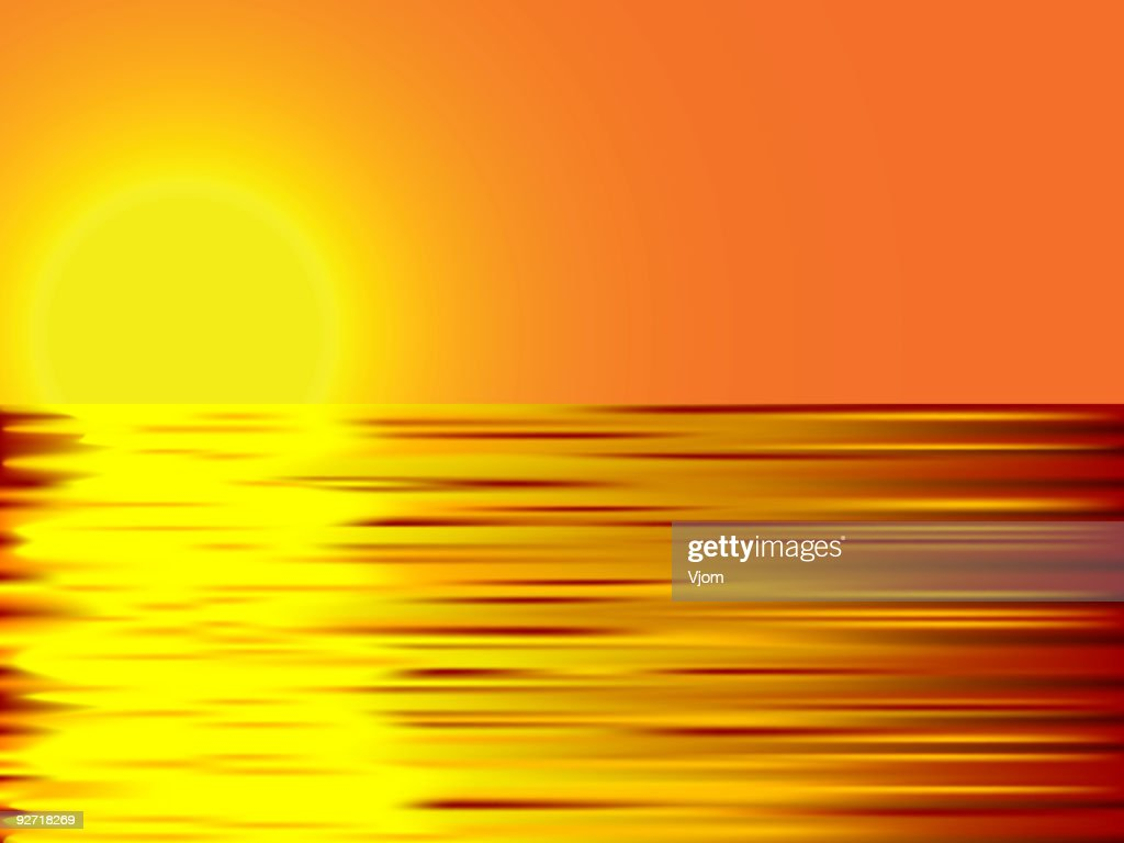 Sunset and water.