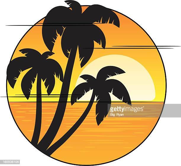 sunset graphic - jamaica stock illustrations, clip art, cartoons, & icons
